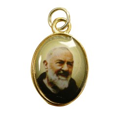 Médaillon avec photo Padre Pio